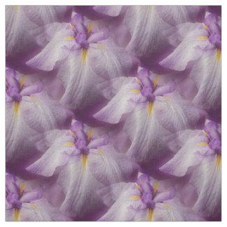 Motif pourpre de nature de fleur d'iris japonais tissu