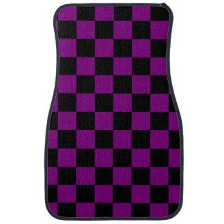 Motif pourpre et noir de damier tapis de voiture