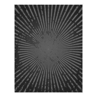 Motif radial grunge : Modèle fait sur commande Prospectus 21,6 Cm X 24,94 Cm