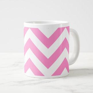 Motif rose de chevron de zigzag mugs jumbo