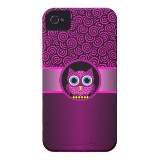 motif rose de remous avec le hibou étuis iPhone 4