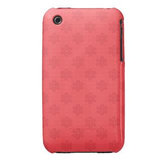 Motif rouge-clair de flocons de neige coques iPhone 3