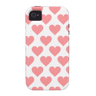 Motif rouge de coeur coques iPhone 4