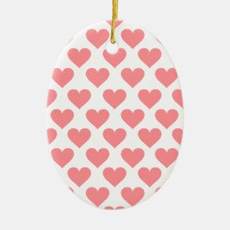Motif rouge de coeur ornement