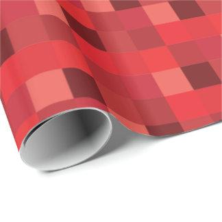 Motif rouge de Pixelated Papier Cadeau