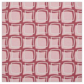 Motif rouge de rose et de canneberge rétro tissu