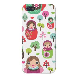 Motif russe d'enfants de poupées de rétro étui iPhone 5