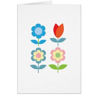 motif scandinave de tulipes rouges de tLittle Carte De Correspondance