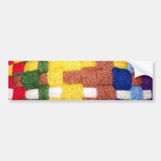 Motif tissé coloré autocollant de voiture