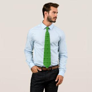 Motif tissé par jacquard fleuri vert irlandais cravate