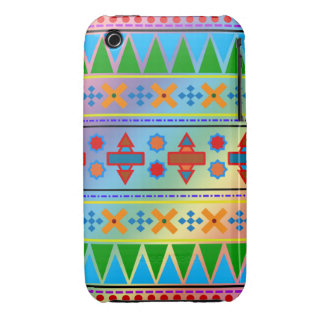 Motif tribal aztèque d arc-en-ciel coques Case-Mate iPhone 3