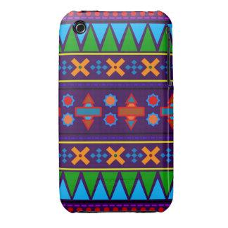 Motif tribal aztèque d'arc-en-ciel pourpre coque iPhone 3 Case-Mate