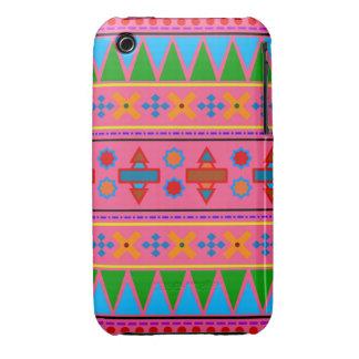 Motif tribal aztèque de rose d arc-en-ciel coque Case-Mate iPhone 3