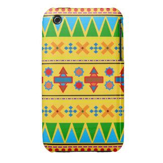 Motif tribal aztèque jaune d arc-en-ciel coque iPhone 3