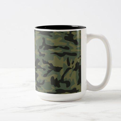 Motif vert de camo tasse à café