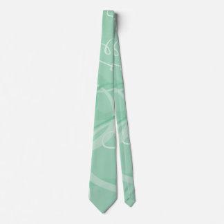 Motif vert en bon état de coeur cravate