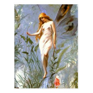 Motif vintage - papillon - Falero - carte postale