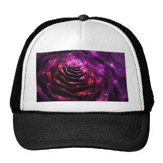 Motif violet d'indigo futuriste floral surréaliste casquettes