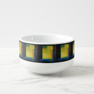 """Motion"" Blue and Yellow Soup Mug"