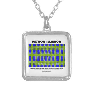 Motion Illusion (Optical Illusion) Silver Plated Necklace