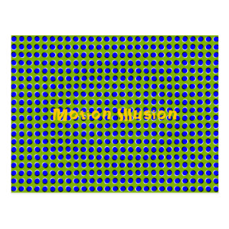 Motion Illusion Optical Postcard