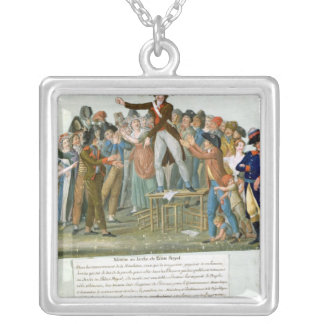 Motion in the Garden of the Palais-Royal Silver Plated Necklace