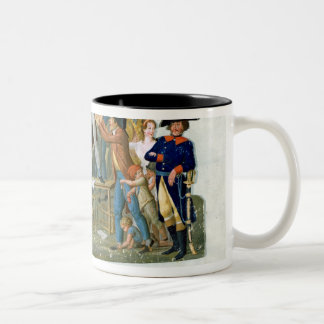 Motion in the Garden of the Palais-Royal Two-Tone Coffee Mug