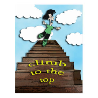 motivate-climb to the top postcard