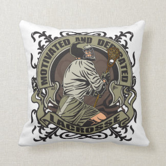 Motivated Lacrosse Throw Pillow