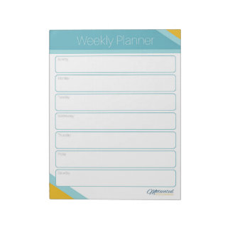 Motivated Mompreneur Weekly Planner Notepad