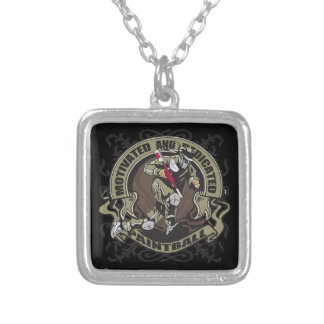 Motivated Paintball Silver Plated Necklace