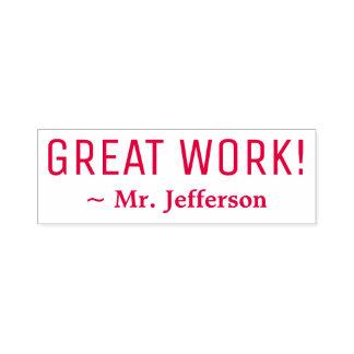 "Motivating ""GREAT WORK!"" Marking Rubber Stamp"