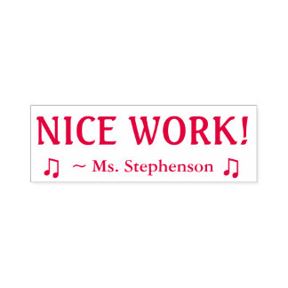 "Motivating ""NICE WORK!"" Marking Rubber Stamp"