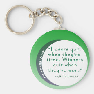 Motivating Quote for Winners Keychain