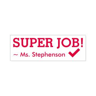 "Motivating ""SUPER JOB!"" Educator Rubber Stamp"