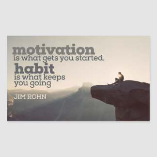 Motivation And Habit by Jim Rohn Sticker
