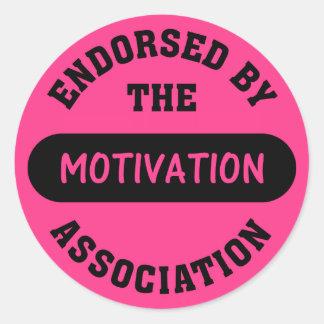 Motivation Association Endorsement Round Sticker