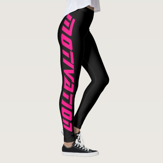 """MOTIVATION"" black leggings"
