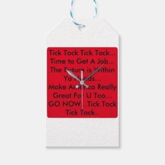 Motivation Clock Gift Tags
