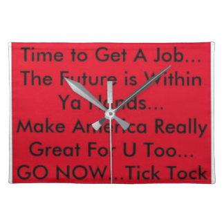 Motivation Clock Placemat