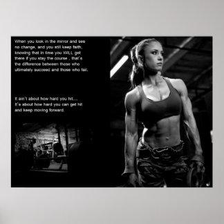 Motivation de séance d'entraînement affiche