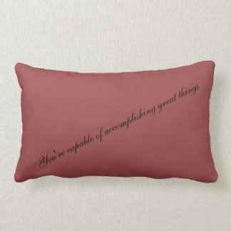 Motivation decorative cushion