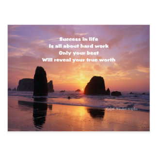 Motivation for success postcard