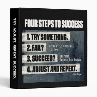 Motivation - Four Steps To Success - Inspirational Binder