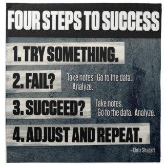 Motivation - Four Steps To Success - Inspirational Napkin