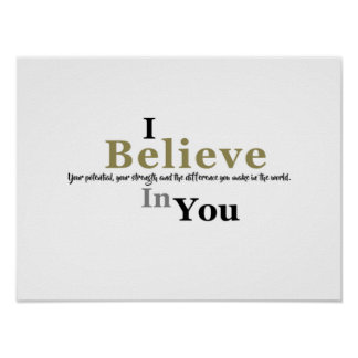 Motivation: I Believe In You Poster