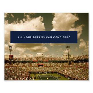 Motivation Inspirational Success Tennis Poster