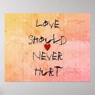 Motivation_Love_Should_Never_Hurt_Mixed-Colors_ Poster