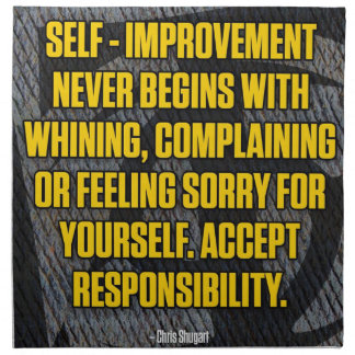 Motivation - Self-Improvement - Inspirational Napkin