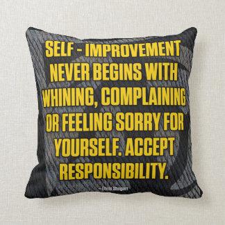 Motivation - Self-Improvement - Inspirational Throw Pillow